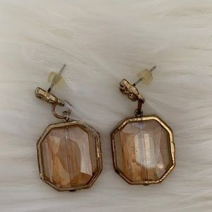 Jewelry - Gold dangle earrings post FREE TO BUNDLE